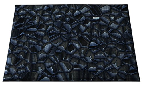 One Ind Graphics - Ergomat IND-0203-02 Home Edition Anti-Fatigue Graphic Floor Mats, Onyx Facets Deluxe, 2' x 3'