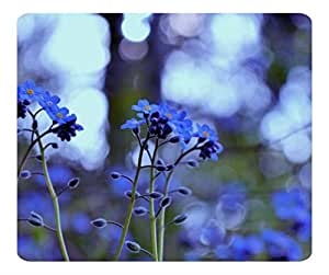 Decorative Mouse Pad Art Print Landscape and Plants Forget Me Not Flowers