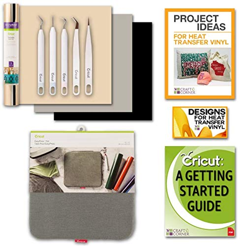Cricut EasyPress Mat Accessories Bundle Beginner Guide Weeding Kit IronOn Design