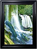 WATERFALLS FRAMED Wall Art-Lenticular Tecnology Causes The Artwork To Flip-MULTIPLE PICTURES IN ONE-HOLOGRAM Type Images Change--MESMERIZING HOLOGRAPHIC Optical Illusions By THOSE FLIPPING PICTURES