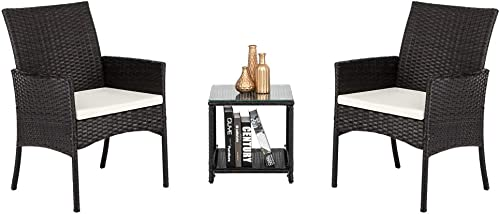 3pcs 2 Single Seat 1 Tea Table Combination Sofa Brown Gradient