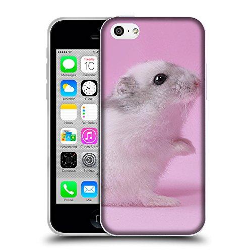 Just Phone Cases Coque de Protection TPU Silicone Case pour // V00004140 hamster souris en rose // Apple iPhone 5C
