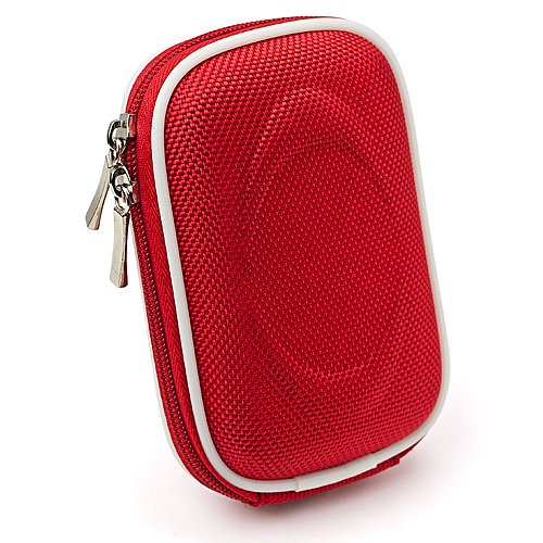 Compact Slim Nylon Camera Case for Canon PowerShot ELPH 140 IS / 135 / IXUS 150 / 145 / 340 HS / IXUS 265 HS Point and Shoot Digital Cameras (Nylon Red)