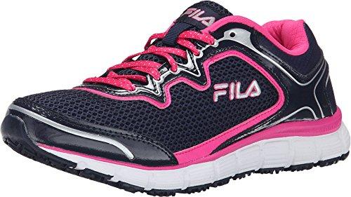 - Fila Women's Memory Fresh Start SR Fila Navy/Pink Glo/White Sneaker 5 B (M)