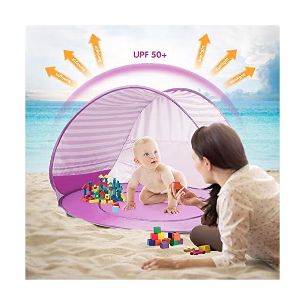 Yalojan Tenda da Spiaggia per Bambini, Pop-up Tenda per Bambini con Piscina per Bambini,Tenda Pieghevole Portatile… 2 spesavip
