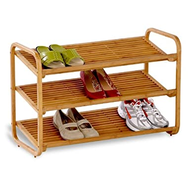 Honey-Can-Do SHO-01599 Bamboo 3-Tier Shoe Shelf