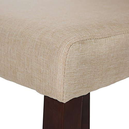 Glitzhome Padded Fabric Dining Chairs Beige, Set Of Two by Glitzhome (Image #4)'