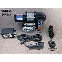 VORTEX 4000LB ATV WINCH! 3 REMOTES! FREE SHIPPING! (FAST SHIPPING - 1 TO 4 BUSINESS DAY DELIVERY)