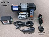 VORTEX 4000LB ATV WINCH! 3 REMOTES! (RAZR,4 WHEELER, QUAD, ATV, UTV)