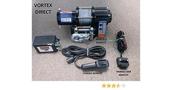 Amazon.com: VORTEX 4000LB ATV WINCH! 3 REMOTES!! (FAST SHIPPING - 1 on