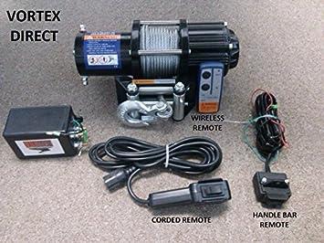 vortex 4000lb atv winch! 3 remotes! (razr,4 wheeler, quad, atv, utv) Vortex Winch Wiring Diagram vortex winch wiring diagram wiring