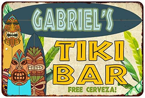 Amazon.com: Chico Creek Signs Gabriels Tiki BAR Island ...