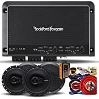 "Rockford Fosgate R250X4 Prime 250 Watts 4-Channel Amplifier + (4) R165X3 Prime 6.5"" 3-Way Coaxial Speaker + Amp Kit"