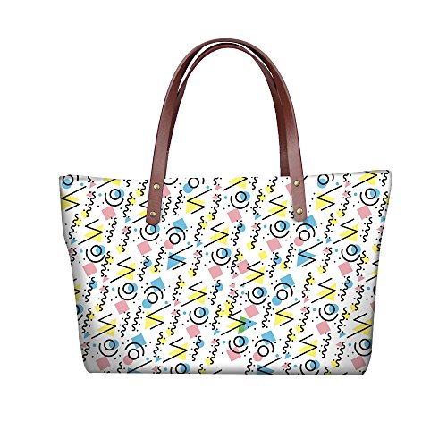 Satchel Women Fashion Handbags V6lcc5099al Foldable Handle Wallets FancyPrint Bags Purse Top qORSx8wW