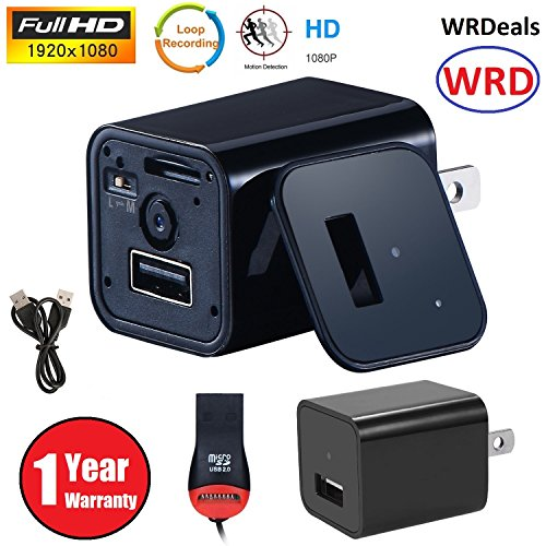 1080P Hidden Camera USB [newest model] WRD Wall Charger Spy Camera Adapter Motion Detection 32gb support [not - Police Glasses Price