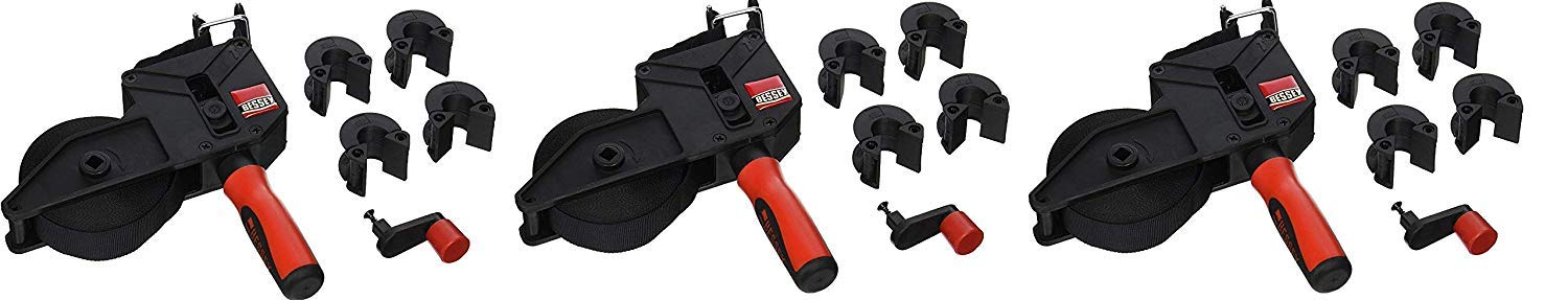 Bessey Tools VAS-23 2K Variable Angle Strap Clamp with 4 Clips, (Pack 3) by Bessey Tools