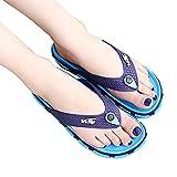 Unisex Flip Flop Sandals Summer Beach Slide Flat Slippers Comfortable Flip Flops for Women Men (US 8-8.5M, Blue)