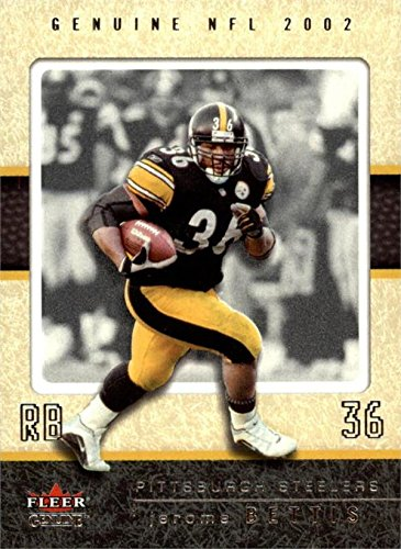 Jerome Bettis football card (Pittsburgh Steelers Super Bowl Champion) 2002 Fleer Genuine #40 ()