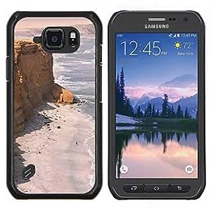 LECELL--Funda protectora / Cubierta / Piel For Samsung Galaxy S6Active Active G890A -- Costa Desert Ocean Sand Beach --