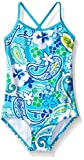 Kanu Surf Big Girls Summer Dream One Piece Swimsuit, Blue, 10