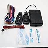 SZSS-CAR Universal Car Remote Central Lock Locking Keyless Entry System Electronic Door Locking Alarm Remote Central Kit with 2 Remote Controls and Wire for Vehicles Vans SUV Truck