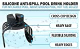 Silicone Anti-Spill Pool Drink Holder - Outdoor Cup