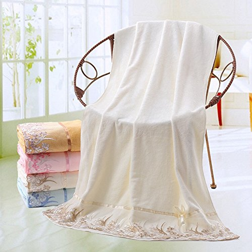 Ieasycan Soft and Light 100% Combed Cotton A Set (Bath & Hand) Towel Gift Set (white) (Hand Towel Frette)