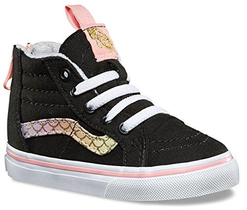 Vans Toddler Sk8-Hi Zip (Mermaid) Rainbow/Gold VN0A32R3OOI Toddler -
