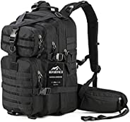 RUPUMPACK Military Tactical Backpack, Hydration Pack, Army MOLLE Bag, 3-Day Rucksack Outdoor Hunting Trekking