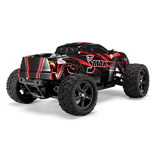 RC Car - REMO 1631 1/16 2.4G 4WD Brushed Off-Road Monster Truck SMAX (Color May Vary)