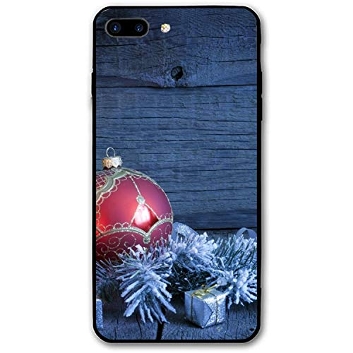 Holiday Christmas Ornaments Candle iPhone 7/8 Plus Case, Gel Rubber Full Body Protection Shockproof Cover Case for iPhone 7/8 ()