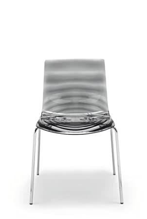 calligaris set of 2 the eau stackable chairs cromato grigio fumè