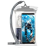 """U-Fix Round Waterproof Universal Phone Case [Gray] Clear Pouch Dry Bag for iPhone X, 8/7 Plus, Samsung Galaxy S9/S9 Plus/S8/S8 Plus/Note 8/6/5/4, Google Pixel 2/2XL, LG up to 6.3"""" Diagonal (Large)"""