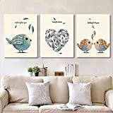MADE4U [ Bird ] [ 20'' ] [ Thicker (1'') ] [ Wood Framed ] Paint by Numbers Kit with Brushes and Paints (Great Saver Bundle of 3) XL50X3