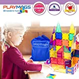 Playmags 3D Magnetic Blocks for Kids Set of 100