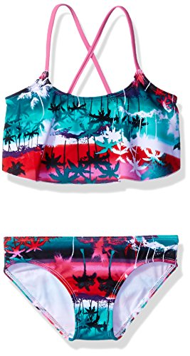 - Kanu Surf Little Girls' Alania Flounce Bikini Beach Sport 2-Piece Swimsuit, Alice Pink, 4