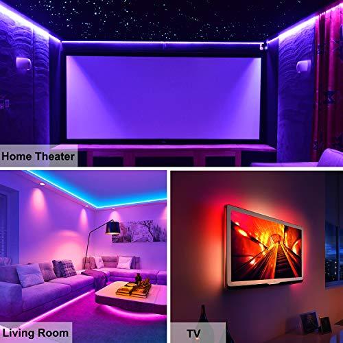 Ruban LED,Azhien Bande LED 5m RGB avec Telecommande,5050 Bandes LED Lumineuse avec 16 Changements de Couleur,4 Modes pour Maison,Chambre,Television,Decoration D'armoire,Fête