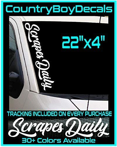 Scrapes Daily 22 Vinyl Decal Sticker TRUCK Car JDM Boost Turbo Lowered Stance