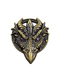 VIGOROSO Men Cowboy Dragon Monster Head Anime Role Brass Belt Buckle Boys Gift