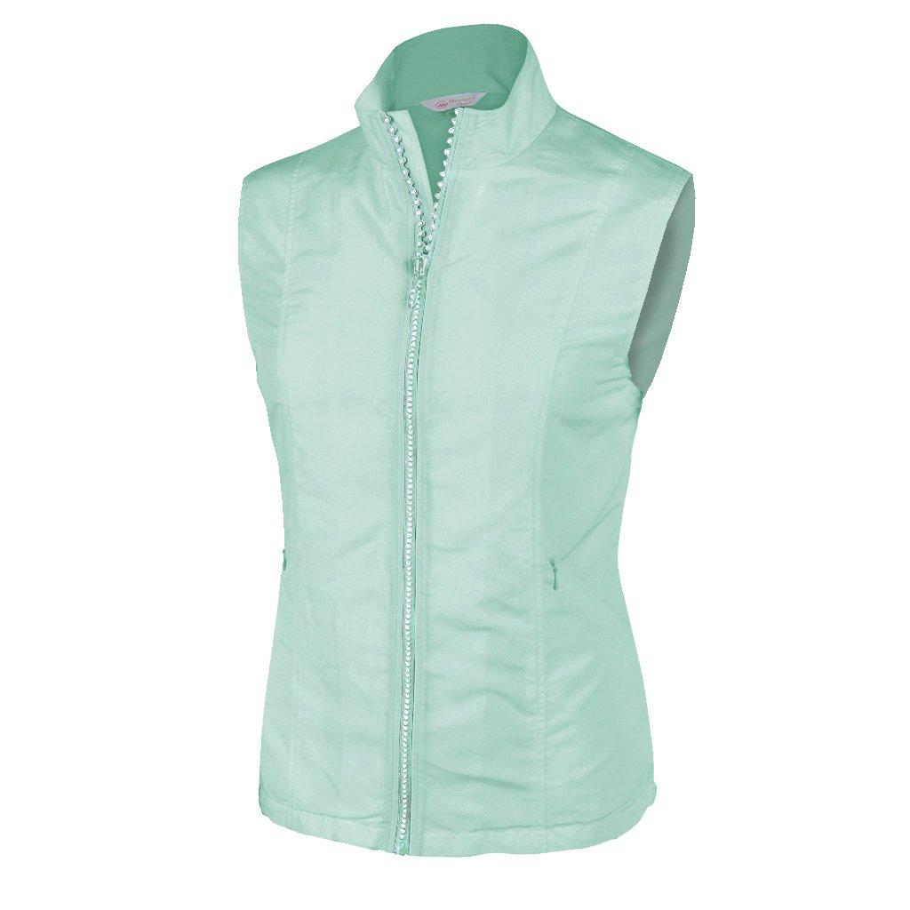 Monterey Club Ladies Lightweight Rhinestone Zipper Vest #2788 (Beach Glass, 2X-Large)
