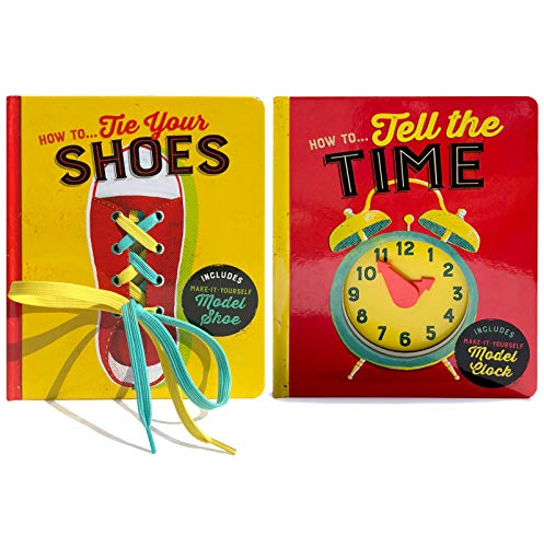 2 Pack How To Board Boards: How To Tie Your Shoes & How To Tell Time ()