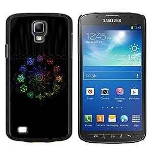Color de Signos- Metal de aluminio y de plástico duro Caja del teléfono - Negro - Samsung i9295 Galaxy S4 Active / i537 (NOT S4)