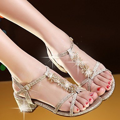 Gold UK6 Casual Sandals Silver Pu Comfort Women'S EU39 US8 Spring CN39 RTRY Hw1qpp