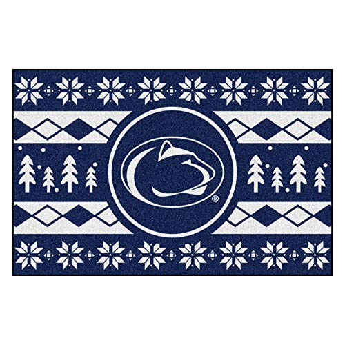 Fanmats NCAA Holiday Sweater Starter Rug, Penn State, 19