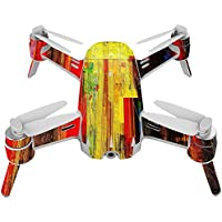 Skin For Yuneec Breeze 4K Drone – Painted Wood | MightySkins Protective, Durable, and Unique Vinyl Decal wrap cover | Easy To Apply, Remove, and Change Styles | Made in the USA