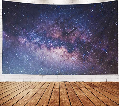 Yecationy Beach Tapestry, Tapestry Psychedelic Tapestry 80x60 Inch The Panorama Milky Way Long Exposure Photograph Tapestry Wall Hanging Living Room Decoration Tapestries - Way Panorama Milky
