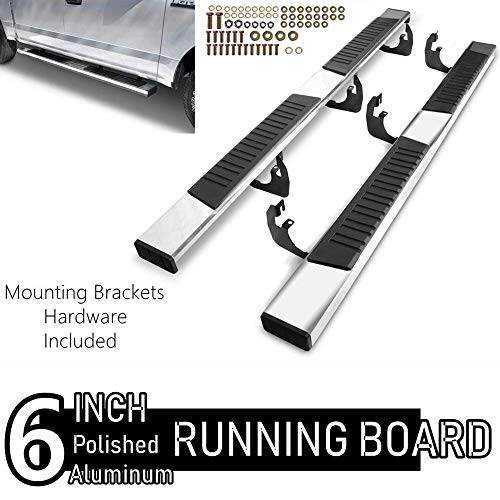 ONINE 6 Inch Chrome Running Boards Custom Fit 2019-2020 Dodge Ram 1500 New Body Crew Cab Aluminum Polished Side Step Nerf bar (Do Not Fit 2019 Ram 1500 Classic)