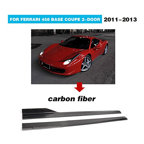 For Ferrari 458 Coupe Convertible 2011 2012 2013 MCARCAR KIT Side Skirts Extension Carbon Fiber Door Flat Protector Body Kit 2PCS