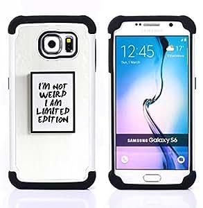For Samsung Galaxy S6 G9200 - limited edition weird I am poster text Dual Layer caso de Shell HUELGA Impacto pata de cabra con im????genes gr????ficas Steam - Funny Shop -