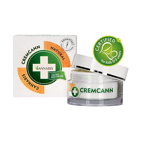 Annabis Cremcann Omega 3-6 – 15ml – Regenerating & Moisturising Cream helps with Wrinkles, Eczema, Psoriasis and Acne – Made with Omega 3 & 6 from Cannabis Sativa Hemp Extract.